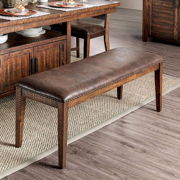 Macleod Nailhead Bench by Millwood Pines