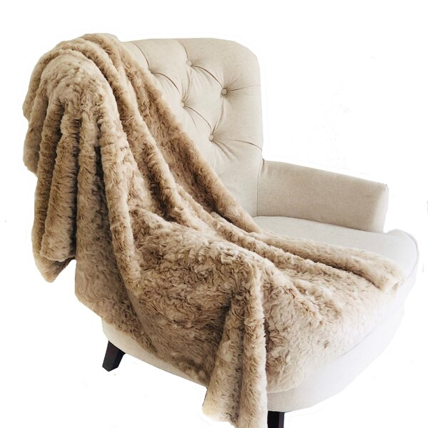 Merrie Handmade Luxury Persian Chilla Faux Fur Throw by Mercer41