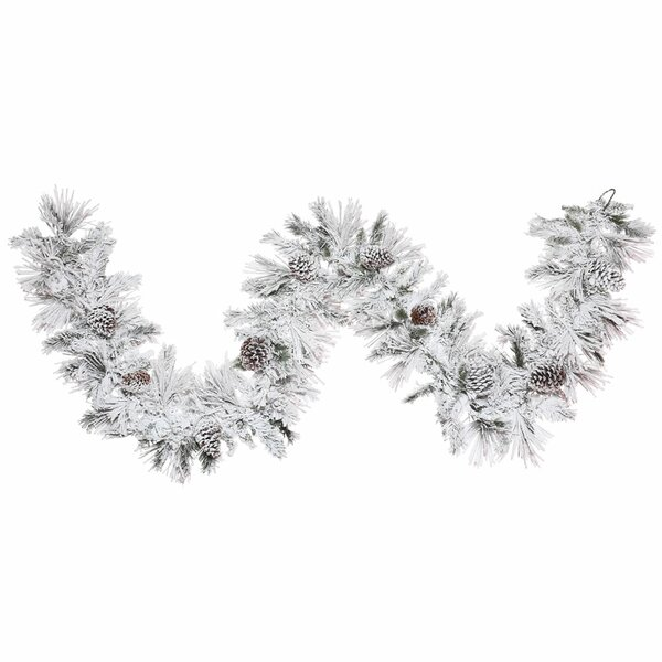 Flocked Atka Garland by The Holiday Aisle