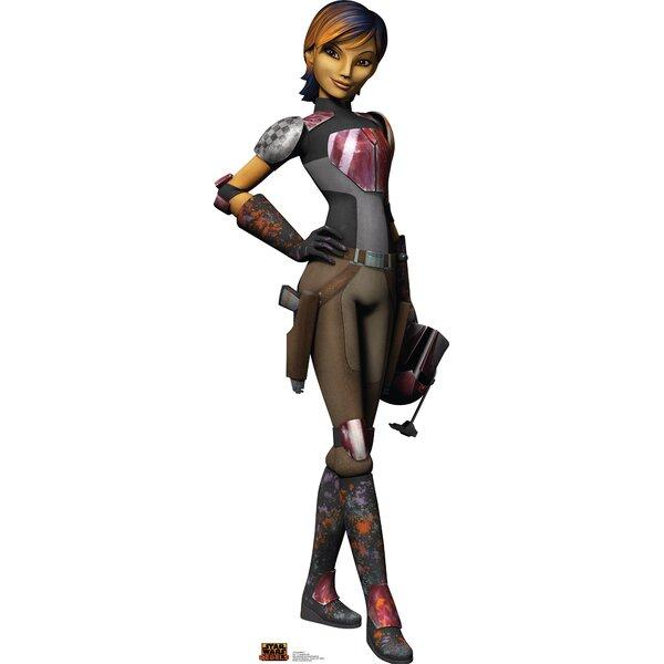 Star Wars Rebels Sabine Wren Cardboard Standup by Advanced Graphics