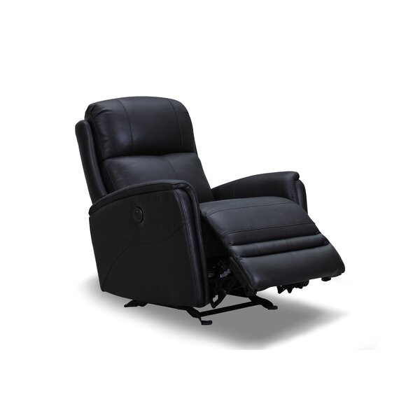 Mcnaughton Leather Power Rocker Recliner by Red Barrel Studio