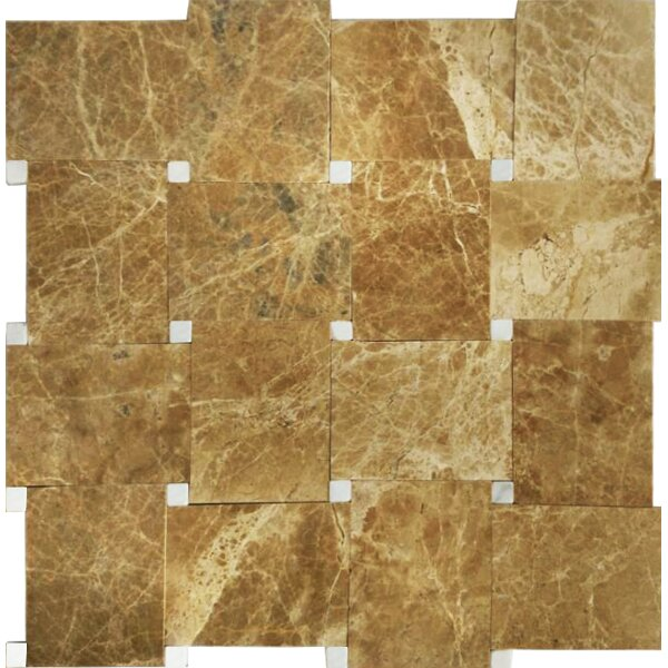 Carrera 12 x 12 Natural Stone/Marble Mosaic Tile in Brown by Mirrella