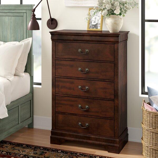 Dwyer 5 Drawer Standard Dresser/Chest by Three Posts