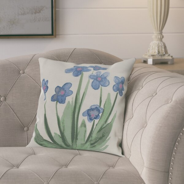 Kaylor Pretty Little Flower Outdoor Square Pillow Cover & Insert