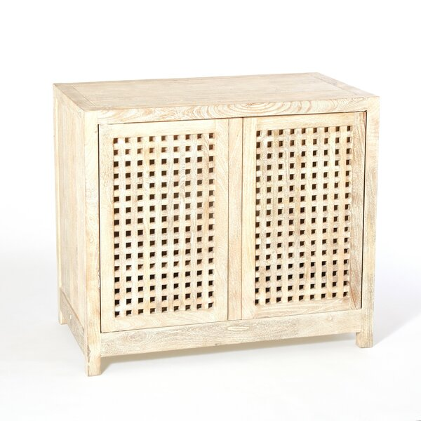 Driftwood Lattice 2 Door Accent Cabinet by Studio A Home Studio A Home