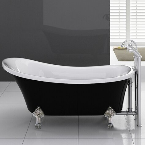 Cesano 63 x 28.3 Freestanding Soaking Bathtub by Kokss