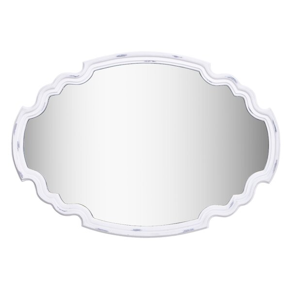 Oval Silver Dresser Wall Mirror by One Allium Way