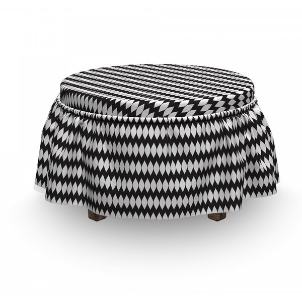 Abstract Simple Oval Shapes Ottoman Slipcover (Set Of 2) By East Urban Home