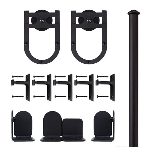 Horseshoe Barn Door Hardware Kit by Quiet Glide