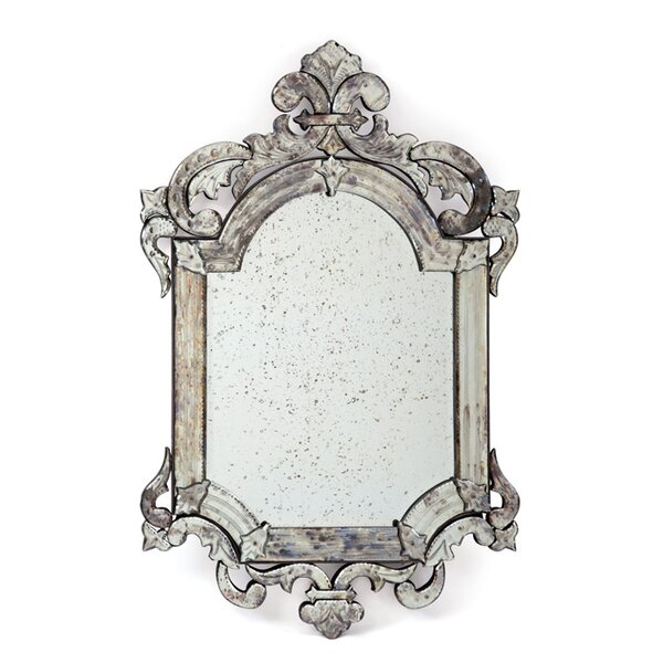 Hand-etched Crowned Accent Mirror by One Allium Way