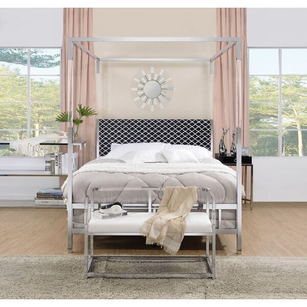 Spenser Queen Upholstered Canopy Bed by Everly Quinn