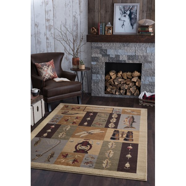 Tilson Brown Area Rug by Threadbind