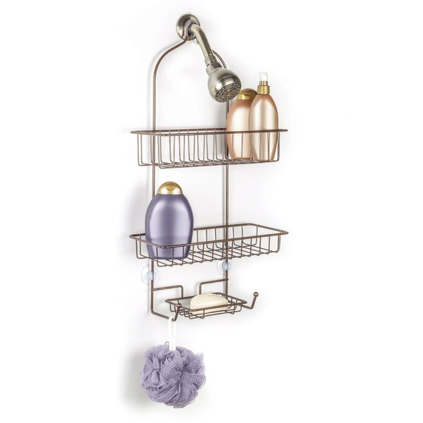Everett Over the Shower 2 Tier Deluxe Shower Caddy with Soap Dish by Rebrilliant