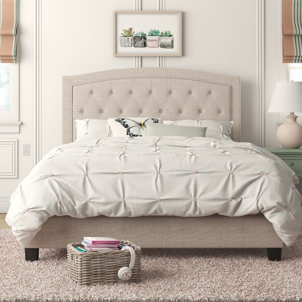 Pascal Tufted Upholstered Low Profile Standard Bed by Andover Mills Andover Mills