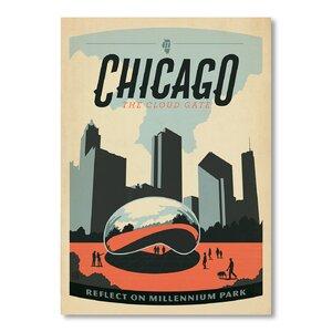 Chicago Millennium Park Vintage Advertisement by East Urban Home