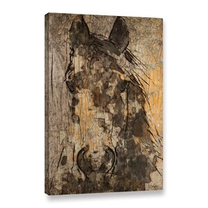 Black Diamond Horse Painting Print on Wrapped Canvas by Loon Peak