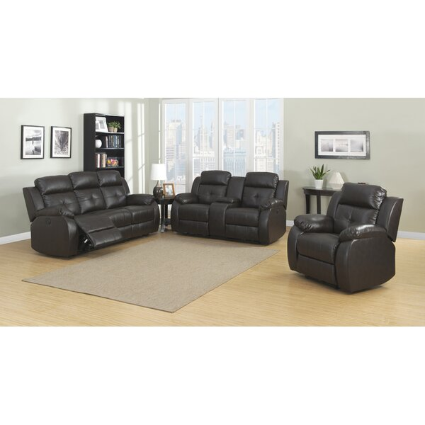 Troy Reclining 3 Piece Living Room Set by AC Pacific