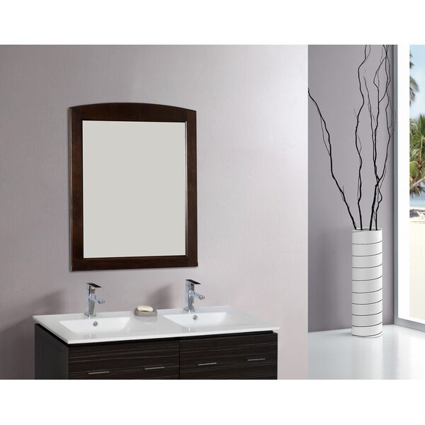 Rectangle Wood Framed Wall Mirror by American Imaginations