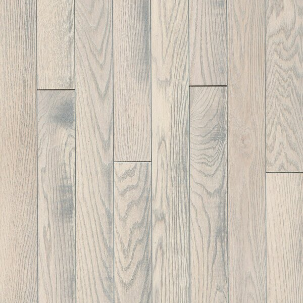 3-1/4 Solid Oak Hardwood Flooring in Statement White by Armstrong Flooring