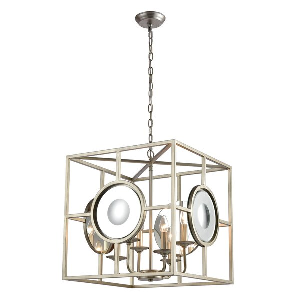 Mindy 4-Light Candle Style Rectangle / Square Chandelier by Wrought Studio Wrought Studio