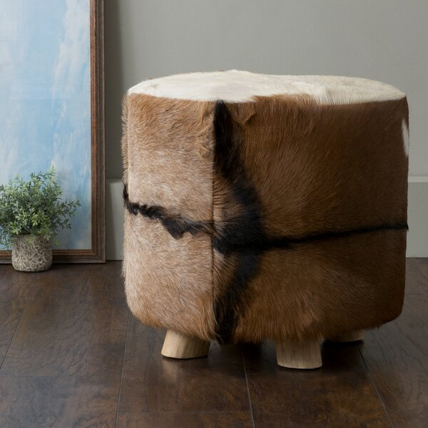 Excelsior Cowhide Ottoman By Millwood Pines Reviews
