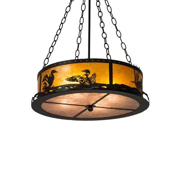 Loon 4 - Light Unique / Statement Drum Chandelier by Meyda Tiffany Meyda Tiffany