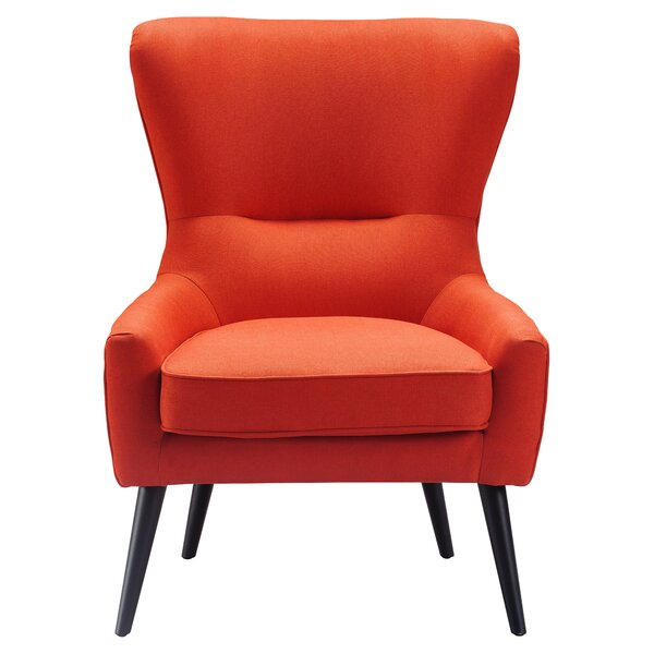 Tremendous Burnt Orange Wingback Chair Wayfair Gmtry Best Dining Table And Chair Ideas Images Gmtryco