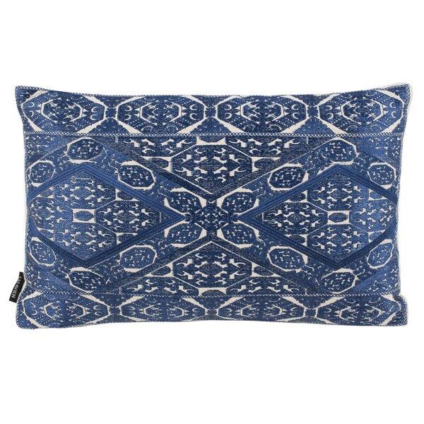 Balboa Embroidered Linen Lumbar Pillow by Bloomsbury Market