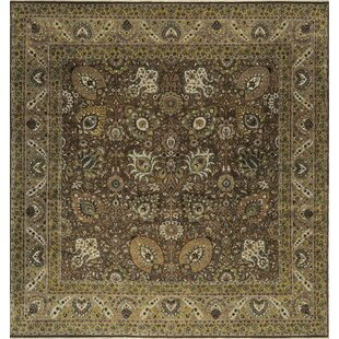 One-of-a-Kind Hand-Knotted Wool Brown/Green Indoor Area Rug By Bokara Rug Co., Inc.