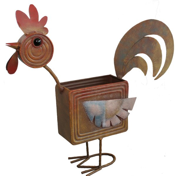 Rooster Metal Pot Planter by Bella Group