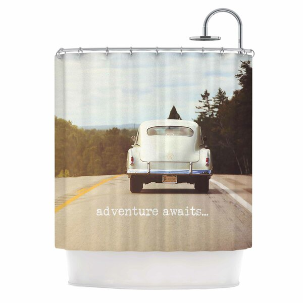 Angie Turner Adventure Awaits Shower Curtain by East Urban Home