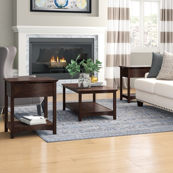Fralick 3 Piece Coffee Table Set by Darby Home Co