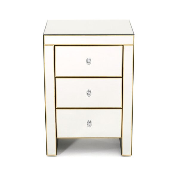 Oliverson 3 Drawer Nightstand by Rosdorf Park