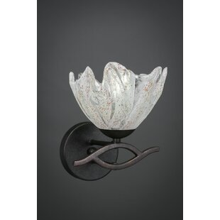 Compare Hiroko 1-Light Wall Sconce By Red Barrel Studio
