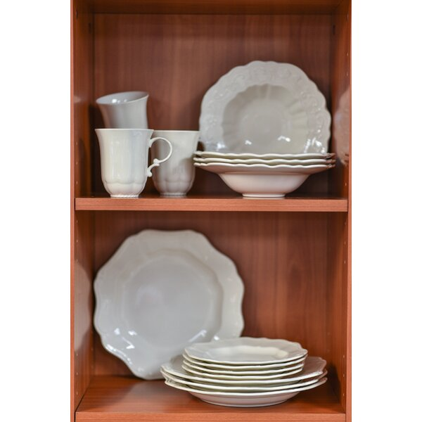 Country Estate 16 Piece Stoneware Dinnerware Set, Service for 4 by Red Vanilla