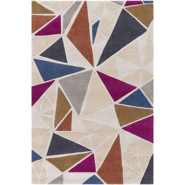 Conroy Hand-Tufted Neutral/Gray Area Rug by Wrought Studio