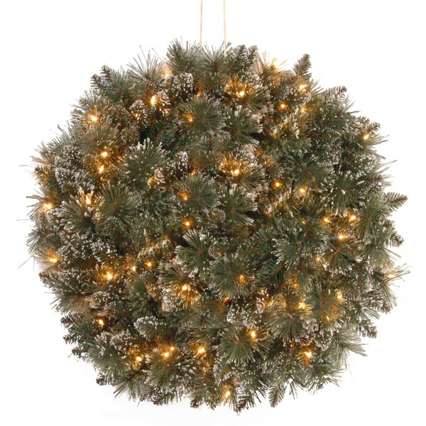Green Pre-Lit Pine Kissing Ball by Darby Home Co