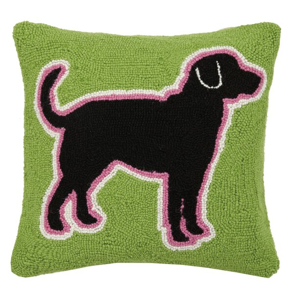 Allie Multi Lab Hook Wool Throw Pillow by Archie & Oscar