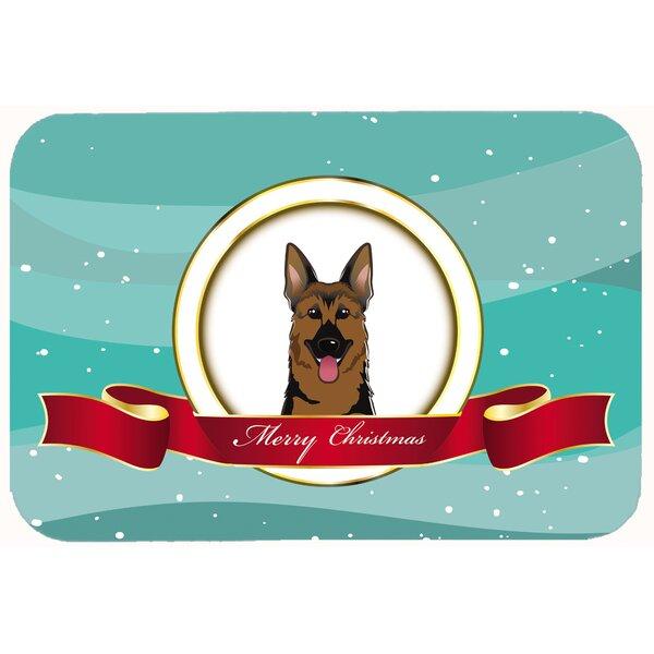 German Shepherd Merry Christmas Kitchen/Bath Mat