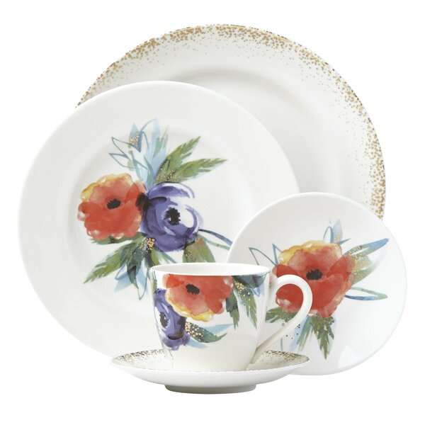 Passion Bloom Bone China 5 Piece Place Setting, Service for 1 by Lenox