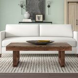 Idabel Solid Wood Sled Coffee Table by Foundry Select