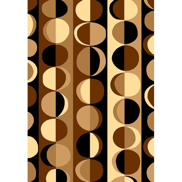 Bella Modern Contemporary Chocolate/Beige Area Rug by Planet Rugs