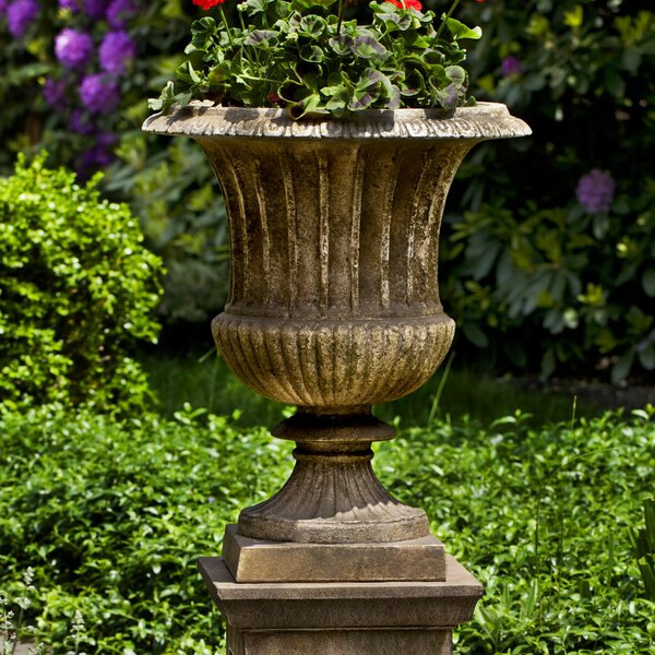 Smithsonian Pedestal Cast Stone Urn Planter by Campania International