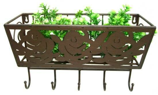 Zangerl Metal Wall Planter with Hooks by August Grove