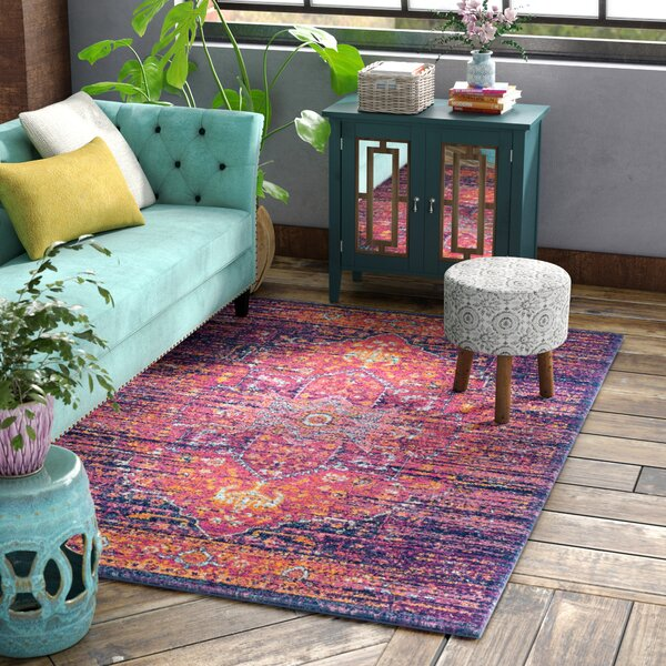 Elson Blue/Fuchsia Area Rug by Mistana