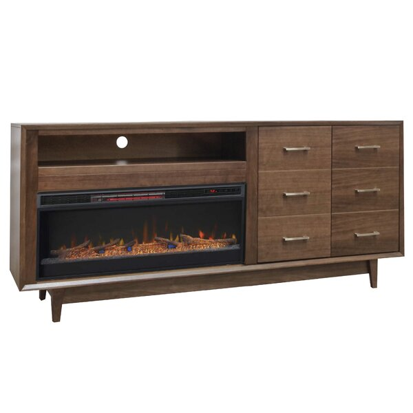 Pixley 84 TV Stand Electric Fireplace by Brayden Studio