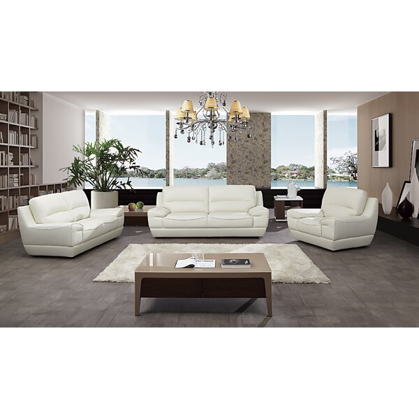 Italian Configurable 3 Piece Living Room Set by Orren Ellis