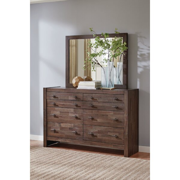 Ishiro 8 Drawer Double Dresser with Mirror by Foundry Select