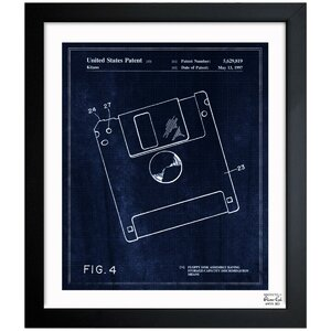 Floppy Disk 1997 Framed Graphic Art by Oliver Gal