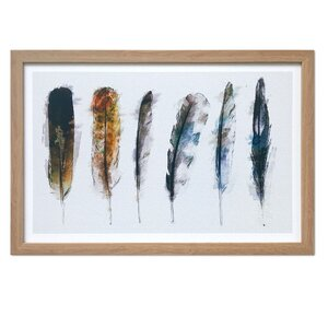'Plume di Nuit' Framed Graphic Art by Mistana
